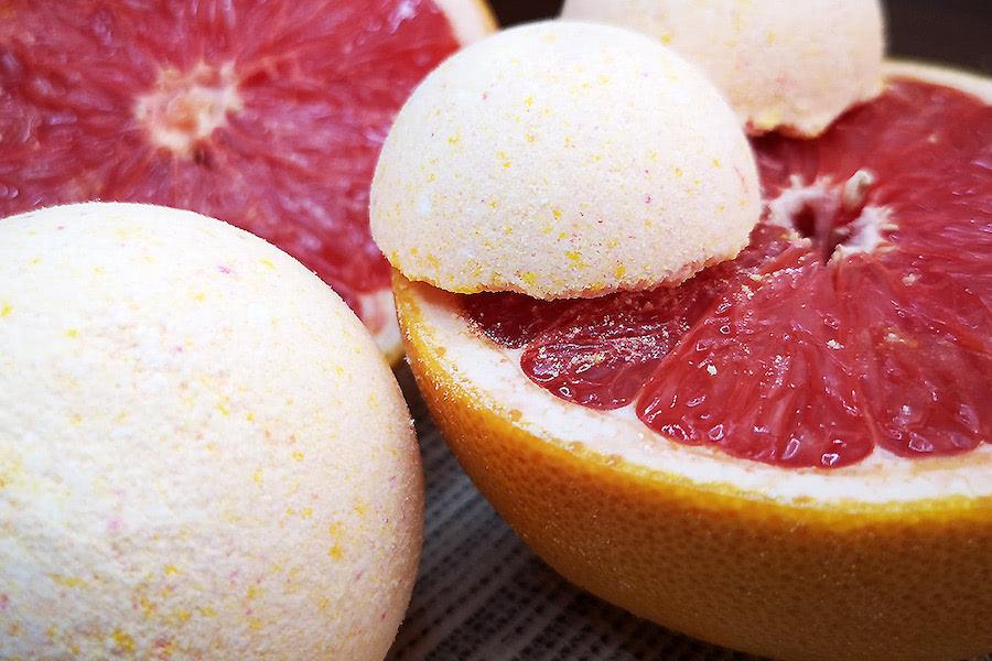 Titelbild zum Badekugel-Rezept mit Grapefruit