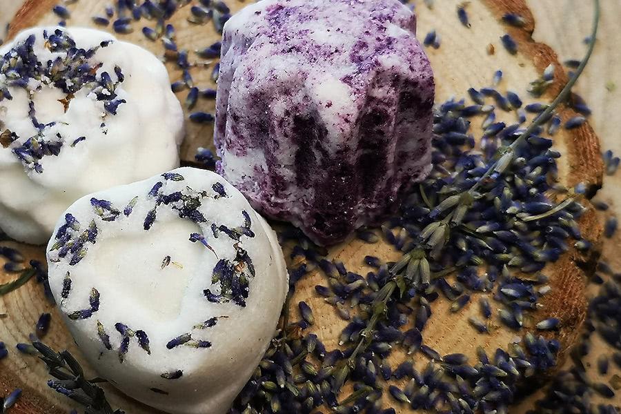 Titelbild zum Badepralinen-Rezept mit Lavendel