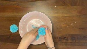 Schritt für Schritt-Bild zum Badekugel-Rezept ohne Zitronensäure 4
