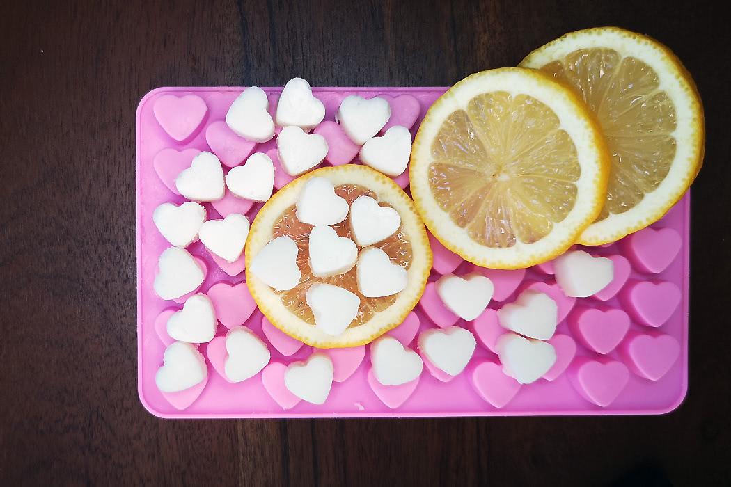 Titelbild zum Badepralinen-Rezept mit Zitrone