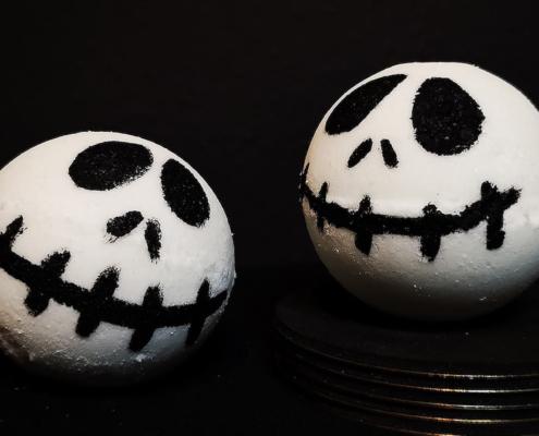 Titelbild zum Badekugel-Rezept Jack Skellington zu Halloween
